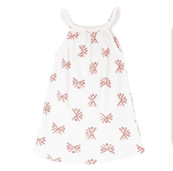 L'ovedbaby | Kid's Halter Dress - Copper Fans