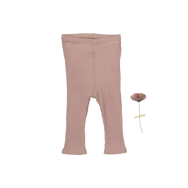 Lovely Littles - The Ribbed Leggings / Mauve