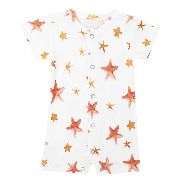 L'ovedbaby | Short-Sleeve Romper - Starfish