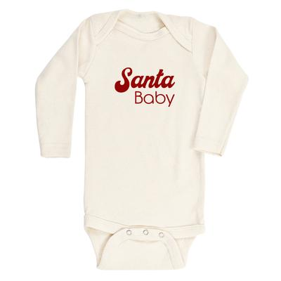 Tenth & Pine || Santa Baby || Organic Long Sleeve Bodysuit
