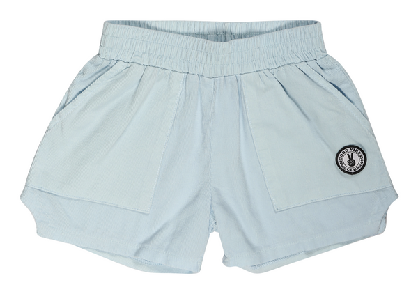 Tiny Whales - Corduroy Dad Shorts - Light Blue