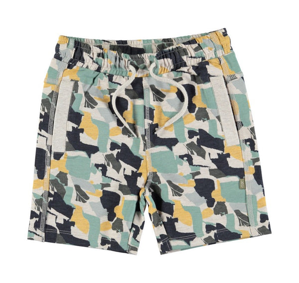 Kids Case - Darcy Organic Kids Shorts - bluegreen print