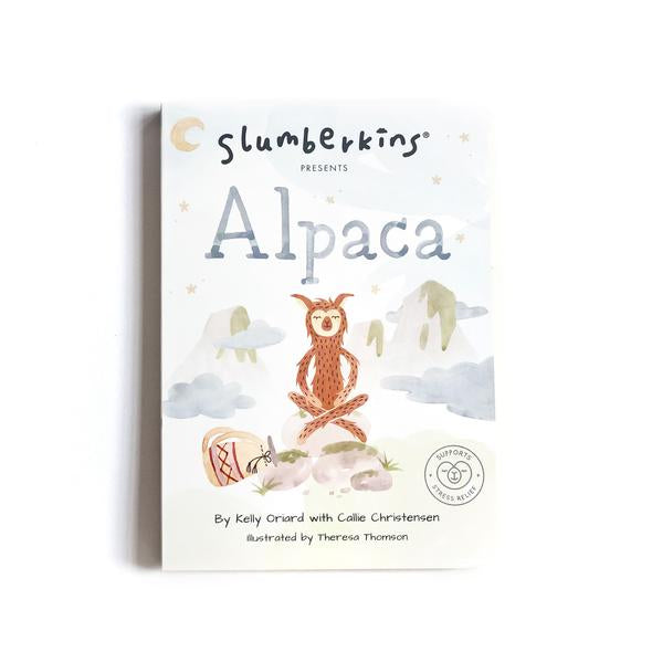 Slumberkins | Alpaca Board Book - Stress Relief