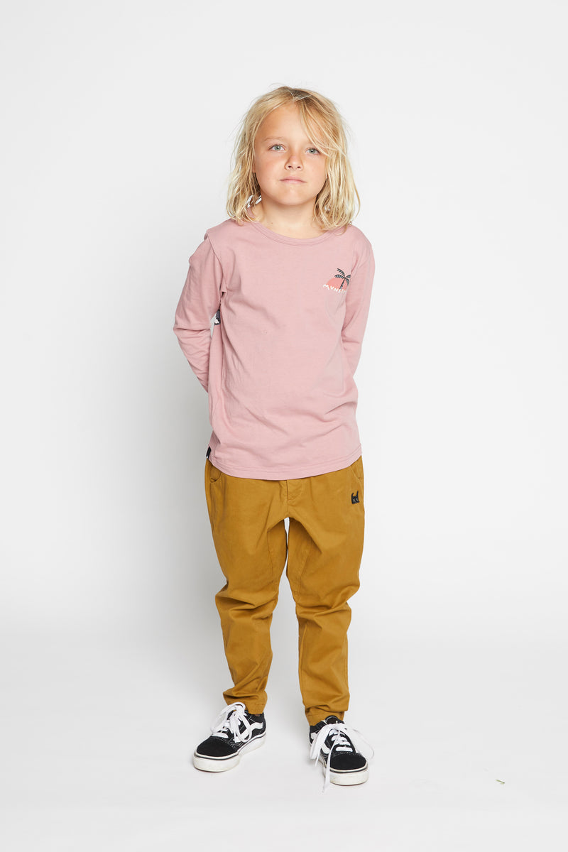 Munster Kids - Stormy L/S Tee in Dusty Pink