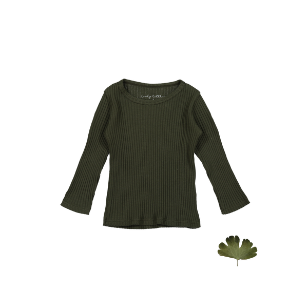 Lovely Littles - The Ribbed Tee / Moss