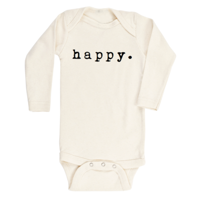 Tenth & Pine || Happy || Organic Long Sleeved Bodysuit