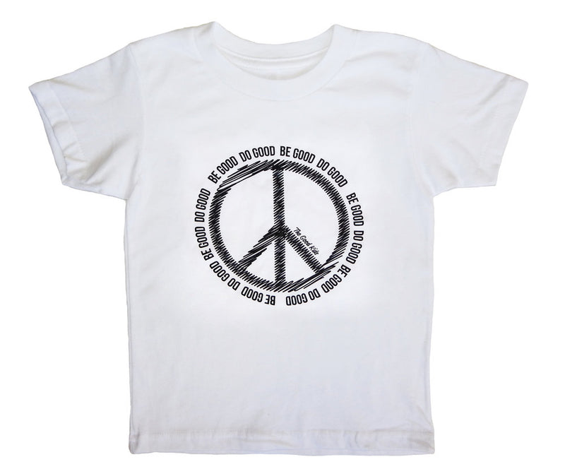 The Good Kids Apparel - Peace Tee | White w/Black