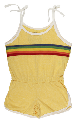 Tiny Whales - Sunshine Romper - Tri Yellow