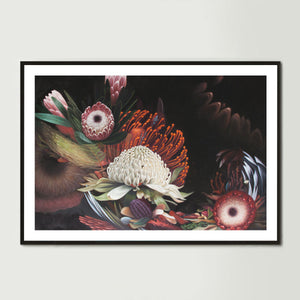 Dark Abstract Native Bouquet 2 Art Print