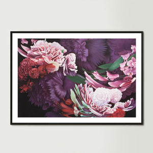 Dark Abstract Native Bouquet 1 Art Print