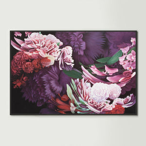 Dark Abstract Native Bouquet 1 Canvas Print