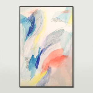 Blue Watercolour Canvas Print