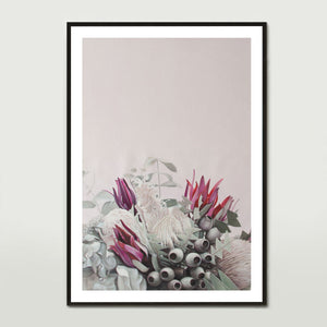 Pink Native Bouquet Art Print