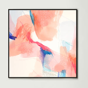 Terracotta Watercolour 1 (Square) Canvas Print