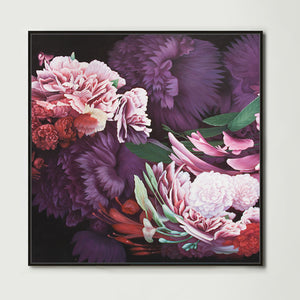 Dark Abstract Native Bouquet 1 (Square) Canvas Print