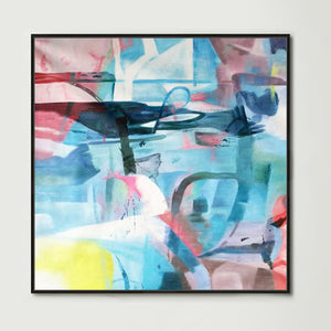 Urban Abstract (Square) Canvas Print