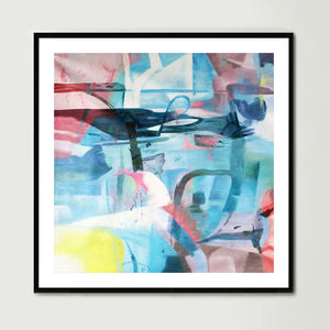 Urban Abstract (Square) Art Print