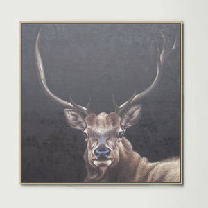 Elk (Square) Canvas Print