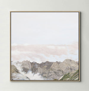 Clouds in the Valley (Square) Canvas Print