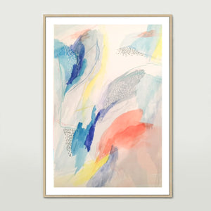 Blue Watercolour Art Print