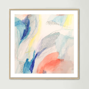 Blue Watercolour (Square) Art Print