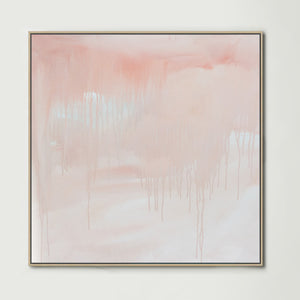 Washed Away Pink (Square) Canvas Print
