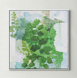 Abstract Ferns (Square) Canvas Print