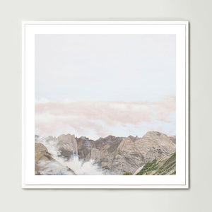 Clouds in the Valley (Square) Art Print