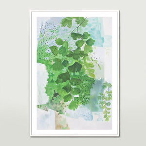 Abstract Ferns Art Print