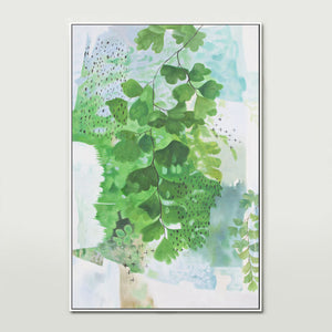 Abstract Ferns Canvas Print