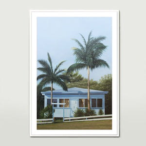 Blue Beach House Art Print