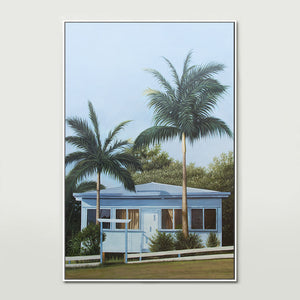 Blue Beach House Canvas Print