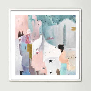 Pale Reflections (Square) Art Print
