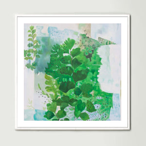 Abstract Ferns (Square) Art Print