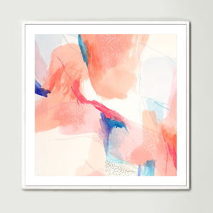 Terracotta Watercolour 1 (Square) Art Print