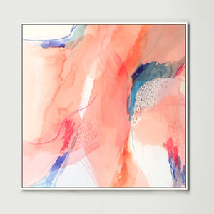 Terracotta Watercolour 2 (Square) Canvas Print