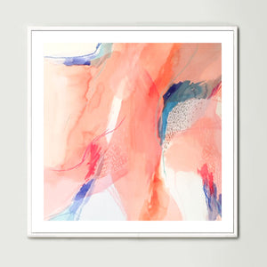 Terracotta Watercolour 2 (Square) Art Print