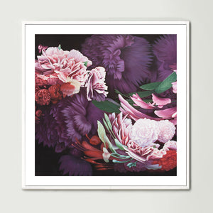 Dark Abstract Native Bouquet 1 (Square) Art Print