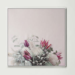 Pink Native Bouquet (Square) Canvas Print