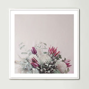Pink Native Bouquet (Square) Art Print