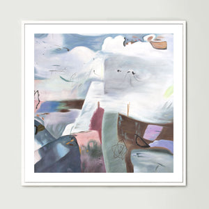 Clouds over the Cliffs (Square) Art Print