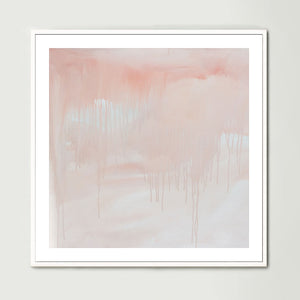 Washed Away Pink (Square) Art Print