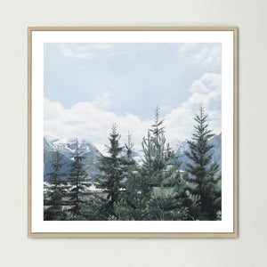 French Pines (Square) Art Print
