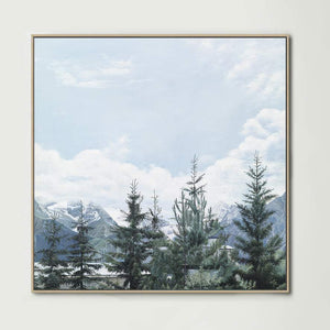 French Pines (Square) Canvas Print