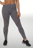 Criss Cross Mesh Leggings with Pocket