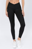 V Waist Leggings - Black