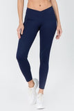 V Waist Leggings - Navy Blue