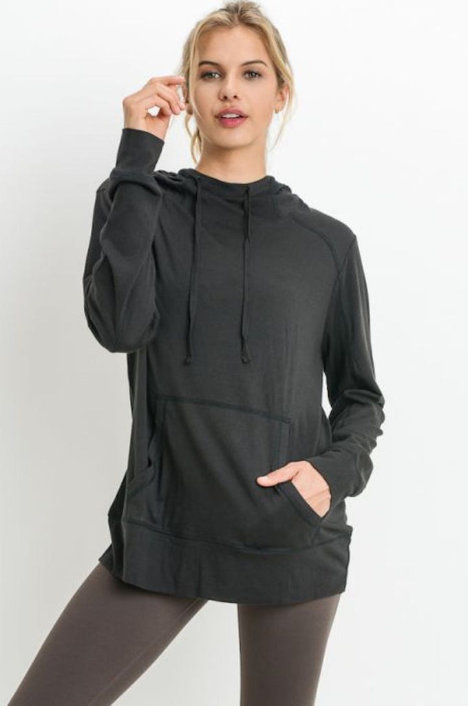 Cut-Out Hoodie with Triangular Back