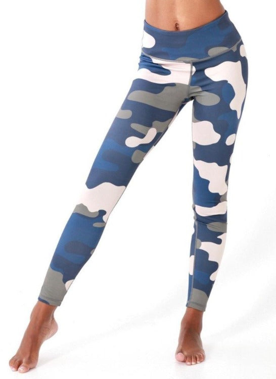 Navy High Rise Camo Leggings - Women' s Active Apparel