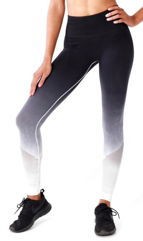 Ombre Leopard Leggings - Women' s Active Apparel